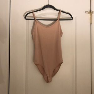 Tan body suit from Forever 21